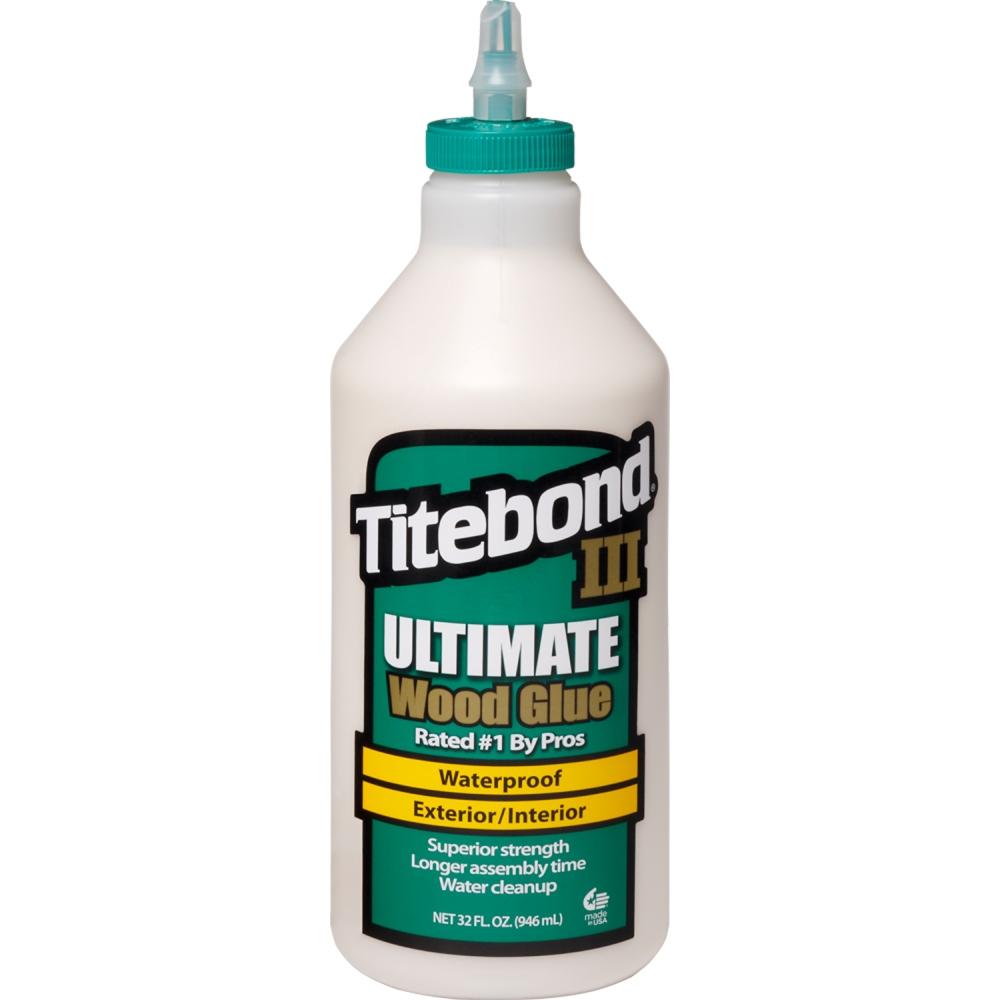 TITEBOND III ULTIMATE 1/4 GALON 946ML. PEGAMENTO PROFESIONAL A PRUEBA DE AGUA. NO TÓXICO